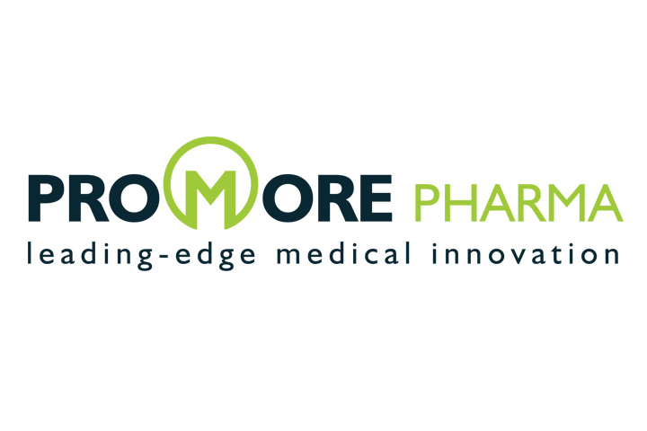 Promore Pharma Logotype with tagline (positive)